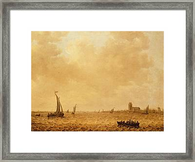 View Of The Old Maas, Dordrecht Framed Print