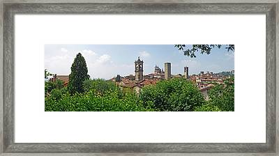 View Of The Old Town Center Skylines Framed Print