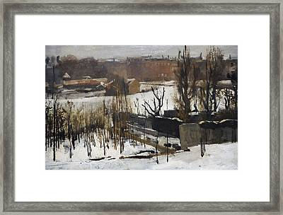 View Of The Oosterpark, Amsterdam, In The Snow, 1892, By George Hendrik Breitner 1857-1923 Framed Print