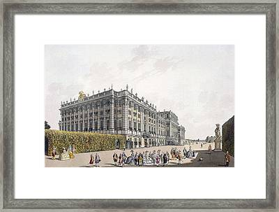 View Of The Palace Of Schoenbrunn Framed Print by Laurenz Janscha