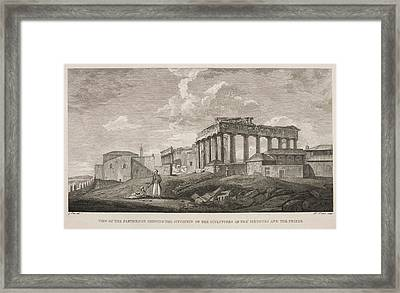 View Of The Parthenion Framed Print by British Library