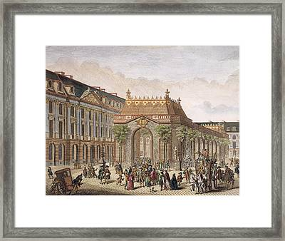 View Of The Place De Louis Le Grand Framed Print by French School