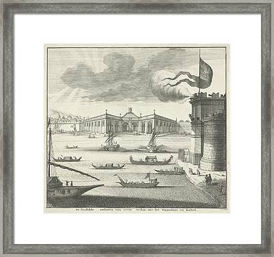 View Of The Port Of Civitavecchia, Italy Framed Print