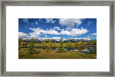 View Of The Quarry Lake Recreation Framed Print