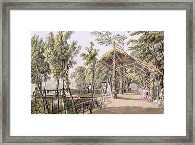 View Of The Reisenberg Gardens Framed Print by Laurenz Janscha