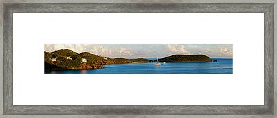 View Of The Rendezvous Bay At Late Framed Print by Panoramic Images