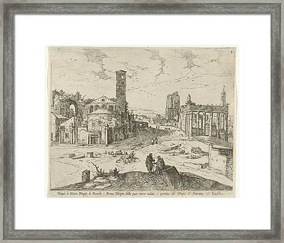 View Of The Roman Forum, Willem Van Nieulandt II Framed Print