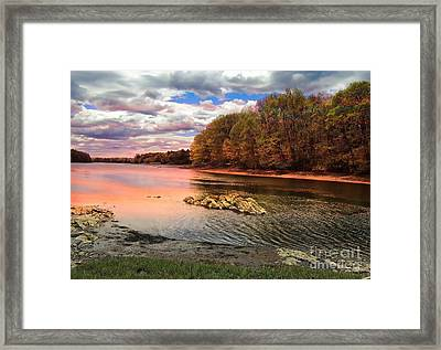 View Of The Salmon River Framed Print