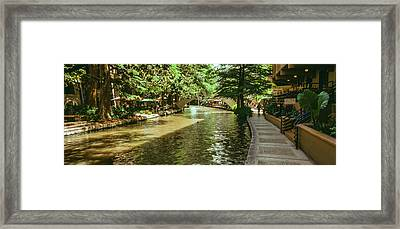 View Of The San Antonio River Walk, San Framed Print