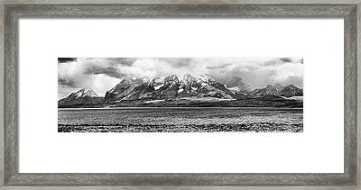 View Of The Sarmiento Lake In Torres Framed Print