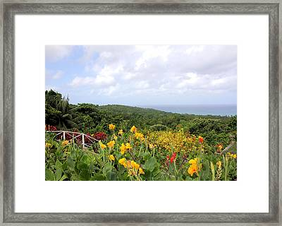 View Of The Sea Framed Print by Rosalie Scanlon