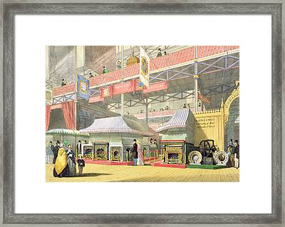 View Of The Sheffield Hardware Stand Framed Print by English School