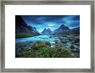 View Of The Skjoldungen Range Framed Print by Andy Mann