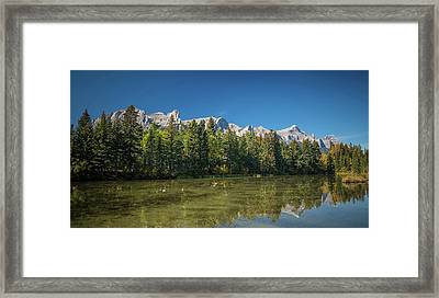 View Of The Spring Creek Pond, Mount Framed Print