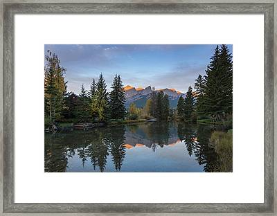 View Of The Spring Creek Pond Framed Print by Panoramic Images