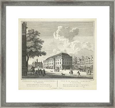 View Of The Square For The New Theater, Nieuwe Schouwburg Framed Print