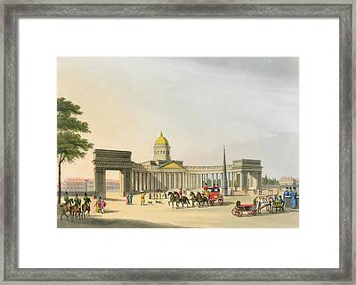 View Of The Square Of Kassan Framed Print by Mornay