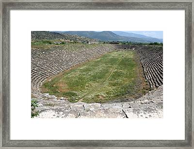 View Of The Stadium From The West Framed Print by Tracey Harrington-Simpson