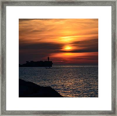 View Of The Sunset Framed Print by Gynt