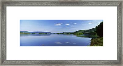 View Of The Susquehanna River Framed Print by Panoramic Images
