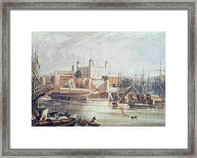 View Of The Tower Of London Framed Print by John Gendall