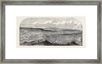 View Of The Town And Fortifications Of Schumla Framed Print by Bulgarian School