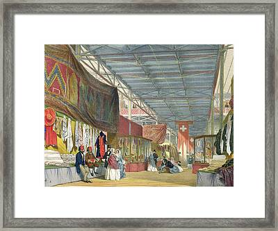 View Of The Tunisian Stand Framed Print by English School