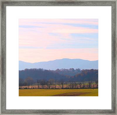 Framed Print featuring the photograph View Of The Valley by Candice Trimble
