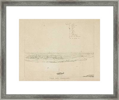 View Of The Waal North Of Nijmegen, Derk Anthony Of Wart Framed Print by Derk Anthony Of Wart