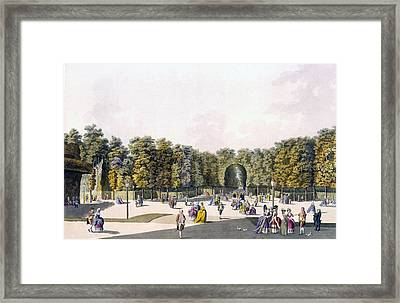 View Of The Walk Of Sighs At Augarten Framed Print by Johann Ziegler