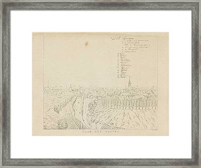 View Of The Western City Of Nijmegen, The Netherlands Framed Print by Derk Anthony Van De Wart