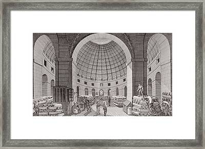 View Of The Wheat Market And The Cupola, 18th-19th Century Engraving Framed Print by Pierre Courvoisier