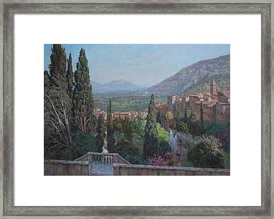 View Of Tivoli From The Terrace Of Villa D'este Framed Print by Korobkin Anatoly