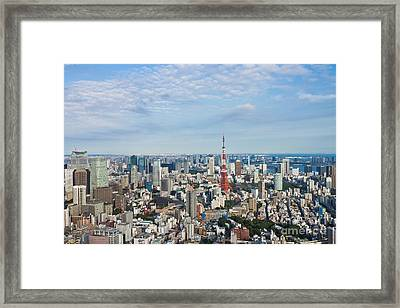 View Of Tokyo City Framed Print by Wing Lun Leung