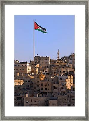 View Of Traditional Houses In Amman Framed Print