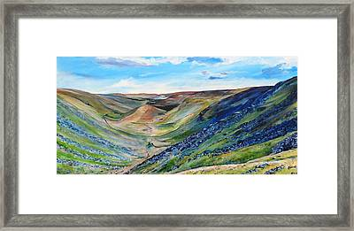 View Of Troutbeck From Stony Cove Pike The Lake District Framed Print by Robina Osbourne