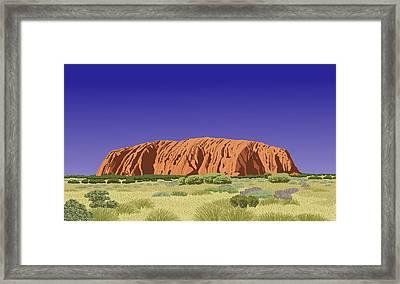 View Of Uluru / Ayers Rock Framed Print