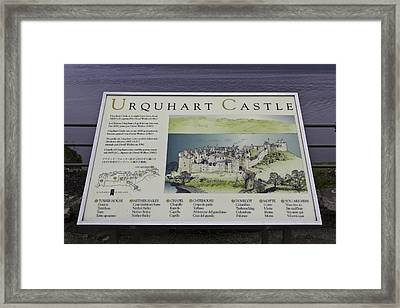View Of Urquhart Castle As In The Year 1600 Ad Framed Print