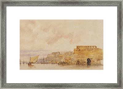 View Of Valetta Framed Print by James Holland