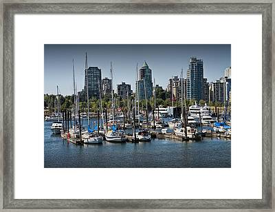 View Of Vancouver Harbor From Stanley Park No. 0674 Framed Print
