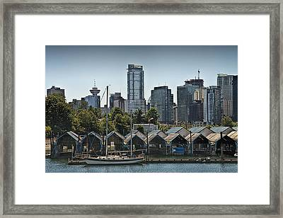 View Of Vancouver Harbor From Stanley Park No. 0676 Framed Print