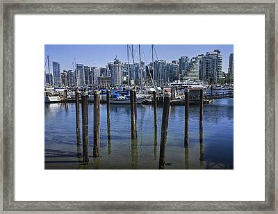 View Of Vancouver Harbor From Stanley Park No. 0815 Framed Print