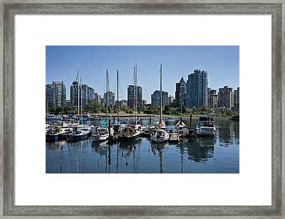 View Of Vancouver Harbor From Stanley Park No. 0900 Framed Print