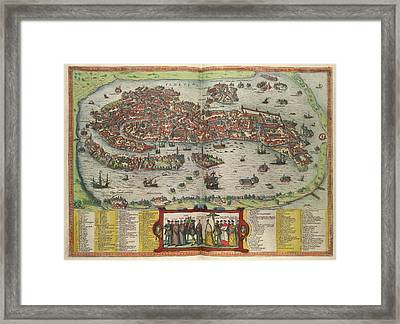 View Of Venice Framed Print by British Library
