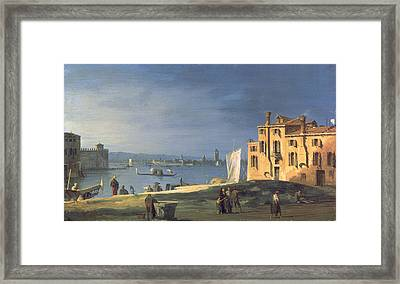 View Of Venice Framed Print by Canaletto