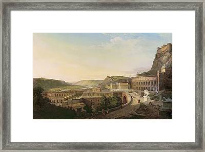 View Of Vienna In Roman Times, 1860 Oil On Canvas Framed Print
