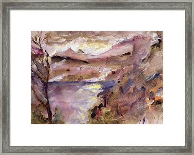 View Of Walchen Lake Framed Print by Lovis Corinth