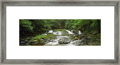View Of Waterfalls In A River, Dingmans Framed Print by Panoramic Images