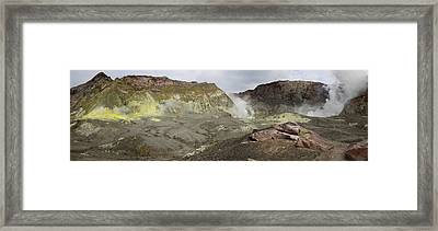 View Of White Island Volcano, Bay Framed Print by Panoramic Images