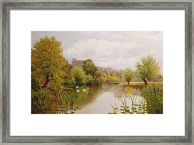 View Of Windsor From The Thames Framed Print by John Atkinson